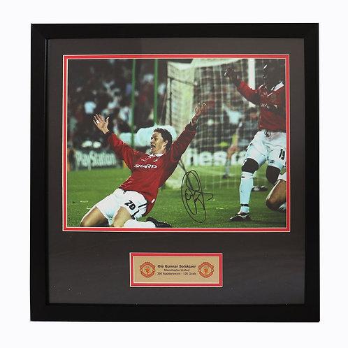 Ole Gunnar Solskjaer Manchester United Champions League 1999 Signed