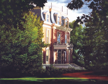 Print : Missouri Governor's Mansion  oil