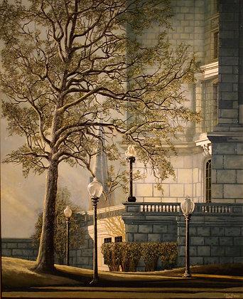 Print: Souteast Corner of Capitol oil