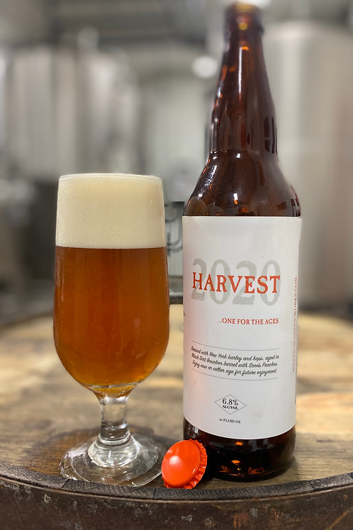 Harvest 2020- Bourbon Barrel Aged with Fresh Peaches