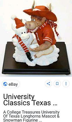 Long Horns Holiday Mascot