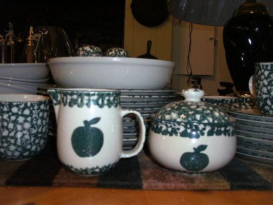 Green Apple Stoneware Set