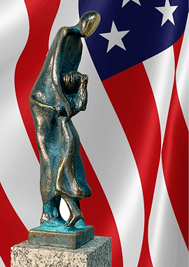 Eric Poliak Award, Statue of girl hugging her father