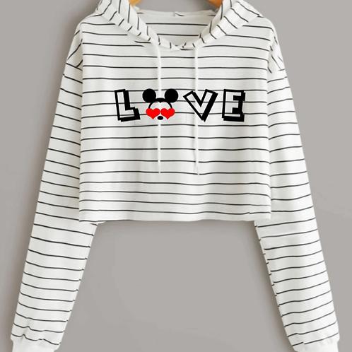 Black Stripes Mickey Love