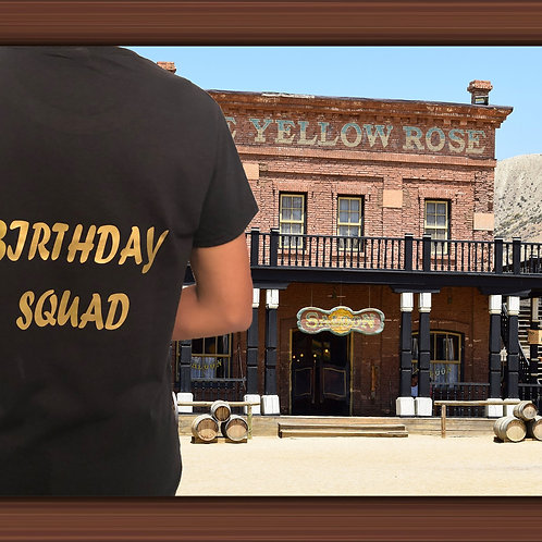 Birthday customised t-shirt