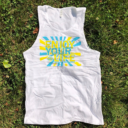 Mens Tank | Burst | White
