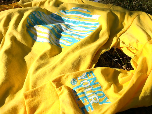 Unisex | Long Sleeve-T | Sun Out | Yellow