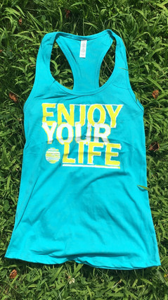 ENJOY YOUR LIFE IN THIS WOMEN'S RACER BACK TANK!