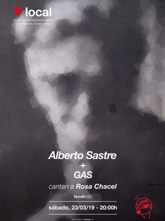 Sastre + GAS cantan a Rosa Chacel 23/03/19