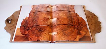 Oak Wooden Boards Binding - Open Detail