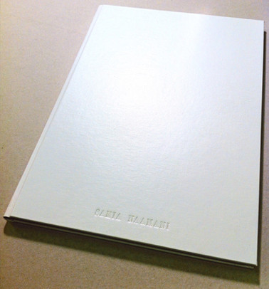 Full White Cloth Binding with Blind Lettering