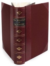 Nelstrop - Half Leather Binding with Leather label and Gold Decoration