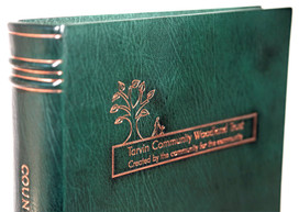 Tarvin Community Woodland Trust - Full Leather Binding