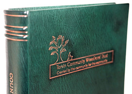 Tarvin Community Woodland Trust - Full Leather Binding