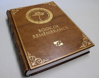 Book of Remembrance - Front Cover Detail