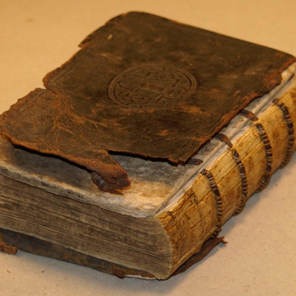 Antiquarian Book Repair - Before 3