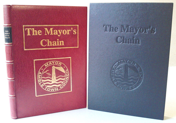 The Mayor's Chain - Full Leather Binding and Slipcase with Gold and Blind De-Bossing