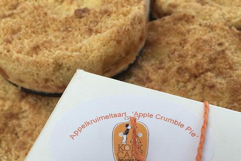 Appelkruimeltaart/ 'Apple Crumble Pie'  12 cm