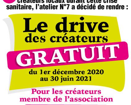 LE DRIVE DES CRÉATEURS DEVIENT GRATUIT !
