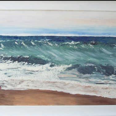 N° 435 Mer agitée à St-cyprien