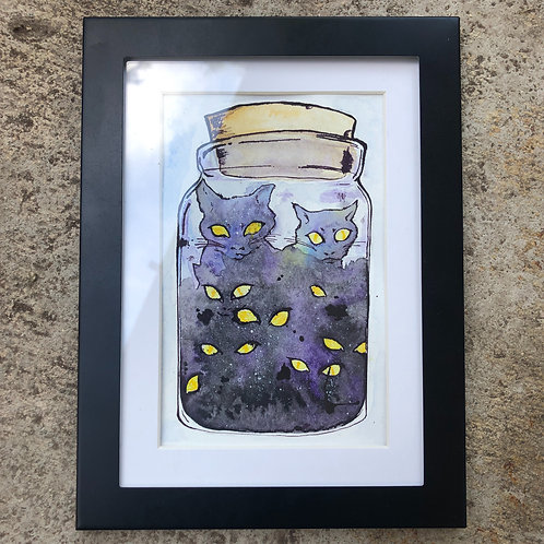 Cat Lives in a Jar 1