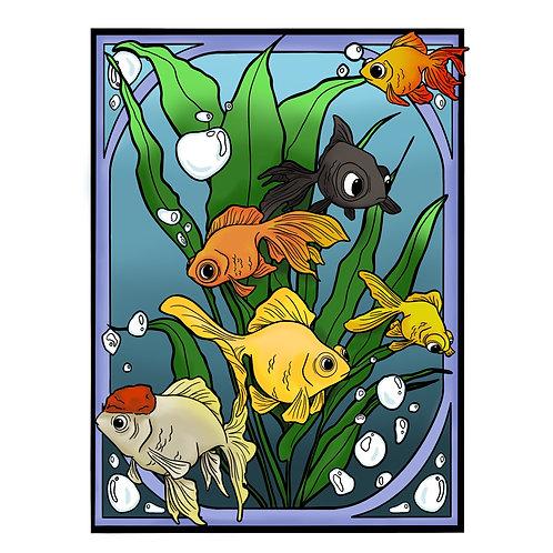 Animal coloring set
