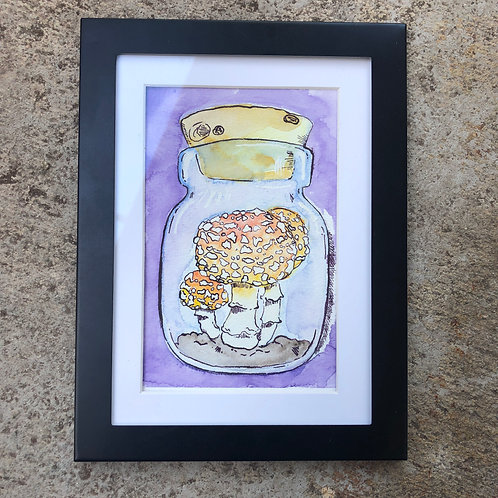 Mushrooms in a Jar