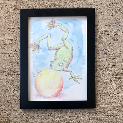 Frog Prince original watercolor painting