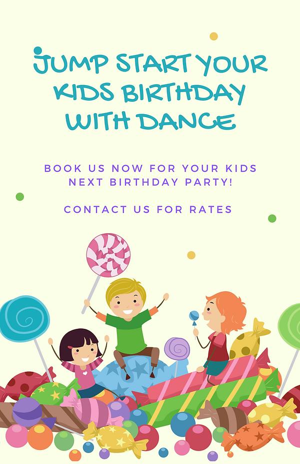Jump start Your kids birthday with dance