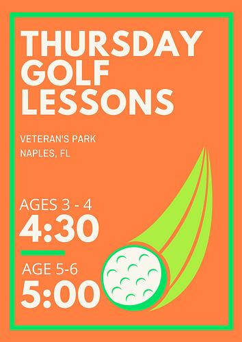 Blue & Green Bold Golf Tournament Poster