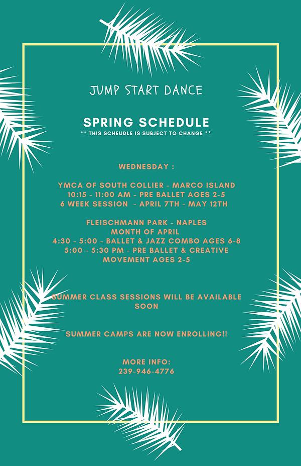 Jump Start Dance Schedule-April  2021.pn