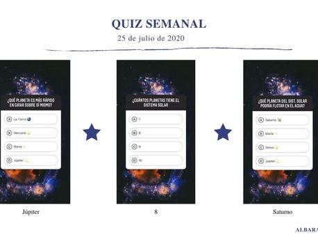 QUIZ ASTRONÓMICO SEMANAL (25 de julio de 2020).