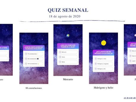 QUIZ ASTRONÓMICO SEMANAL (18 de agosto de 2020).