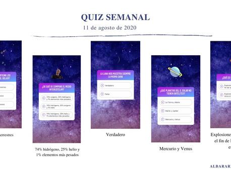 QUIZ ASTRONÓMICO SEMANAL (11 de agosto de 2020).