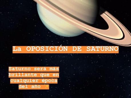 OPOSICIÓN DE SATURNO (20 de julio de 2020).