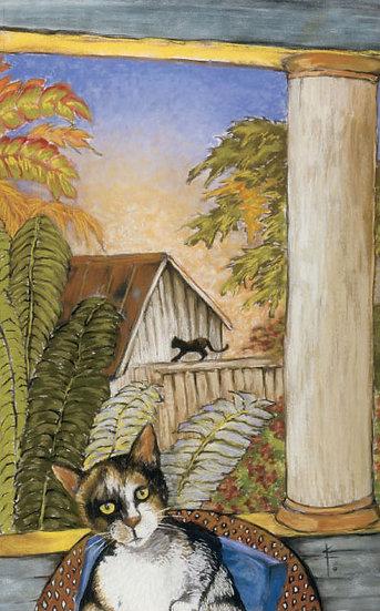 Hemingway's Cat (Giclee Print, Framed&Matted)