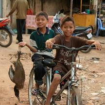 boys riding bikes