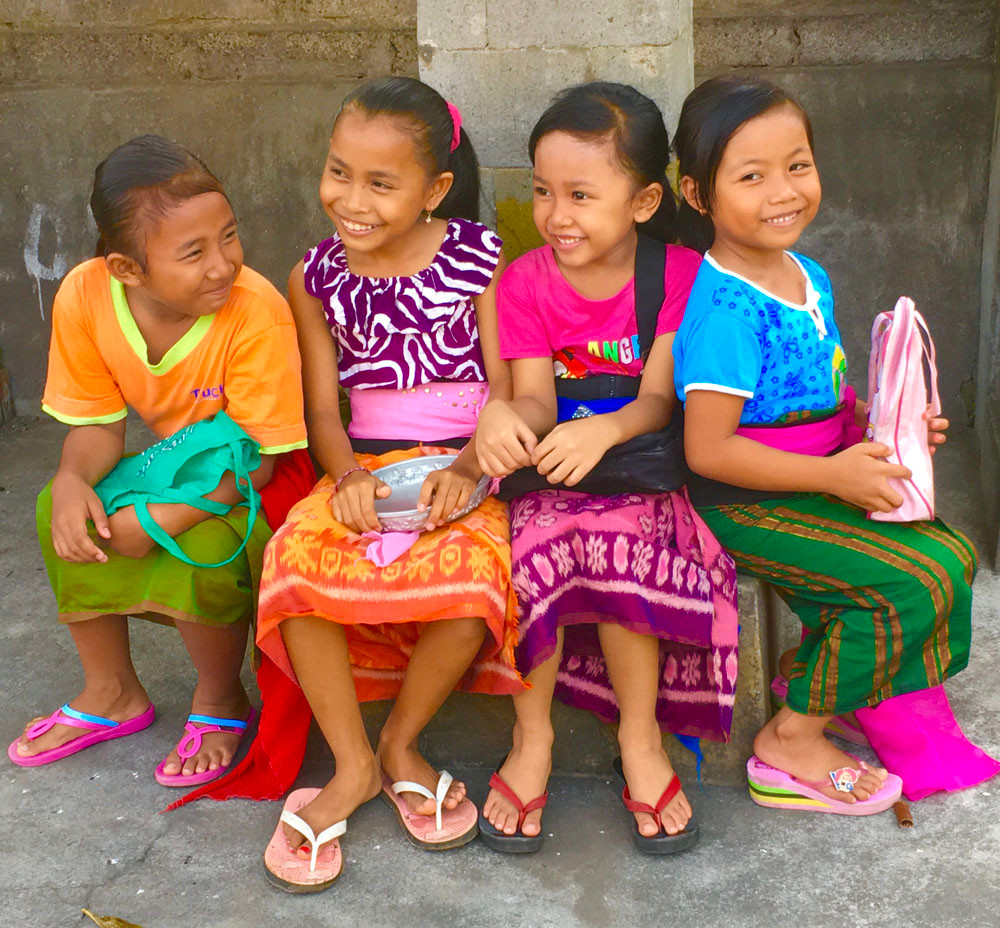 smiling girls in Bali