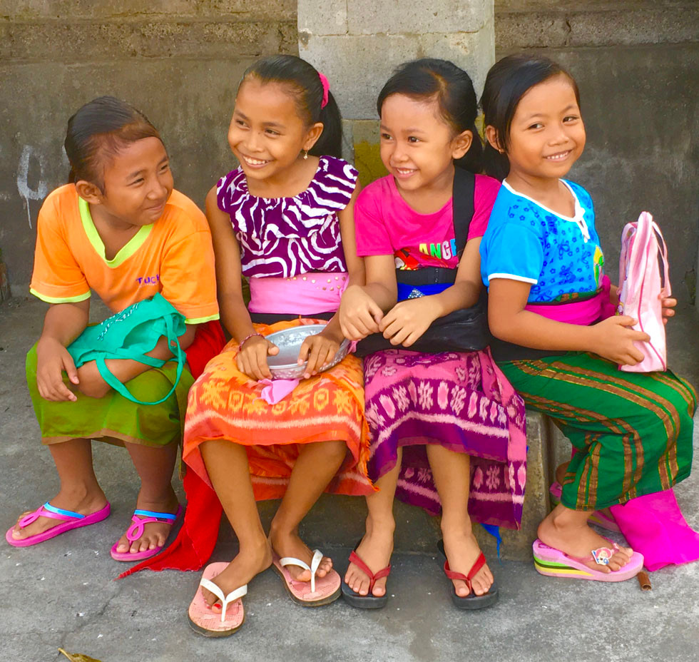 smiling girls in Bali