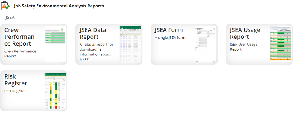 JSEA Reporting