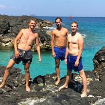 men swimming