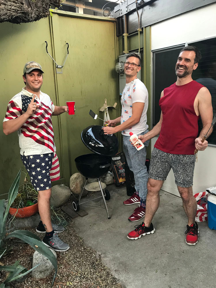 American guys on July 4th.