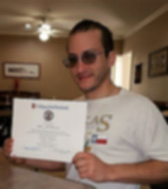 Brian getting his COM certificate 3-1-17