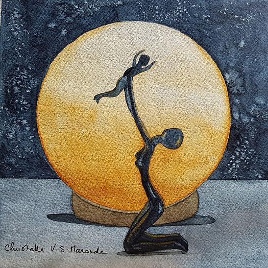 Mere Fils Aquarelle par Christelle Marande