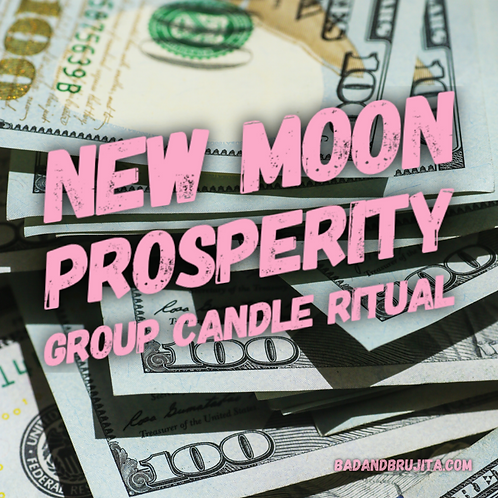 New Moon Prosperity Group Candle Ritual