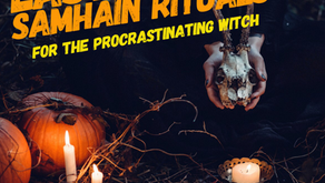 Last Minute Samhain Rituals For The Procrastinating Witch