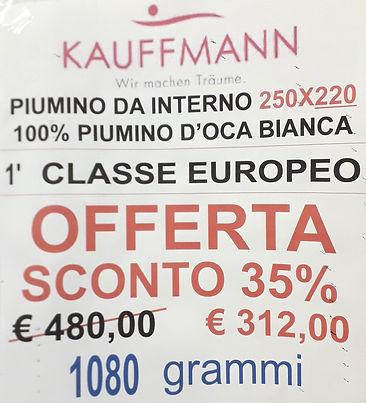 piumino kauffmann