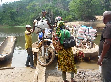 transport via la rivière