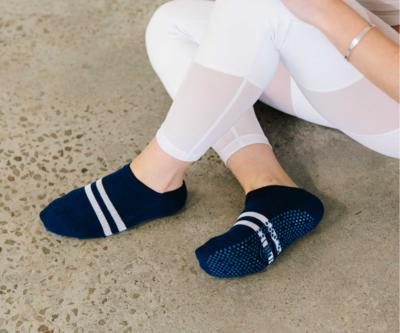 """""""Sporty Stripe"""" Non-Slip Grip Socks"""