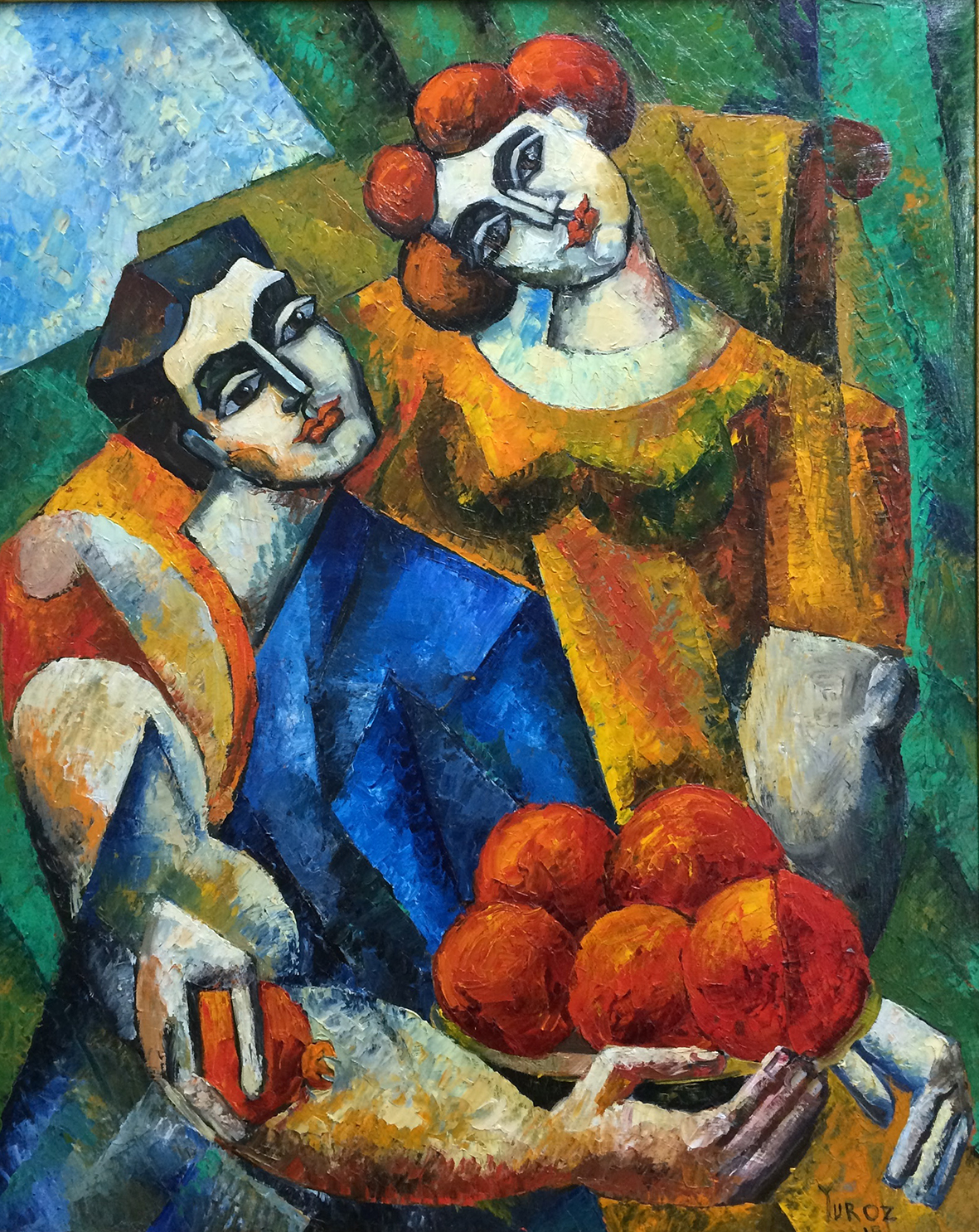 Lovers with Pomegranates, 75 x 60cm, oil